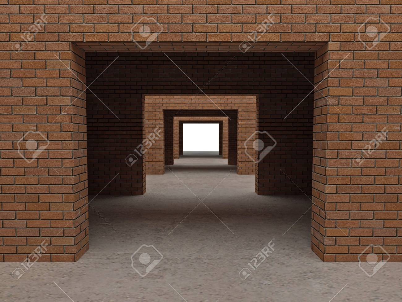 fine image 3d of modern brick building Stock Photo - 3947123