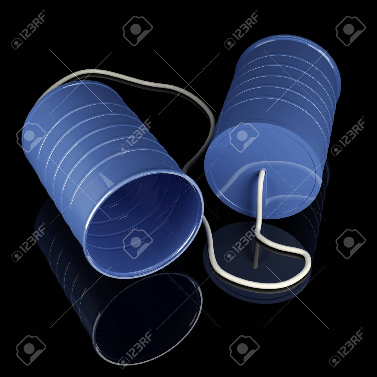 Immagini Stock Belle Immagini 3d Di Telefono Blu Può 3d Sfondo