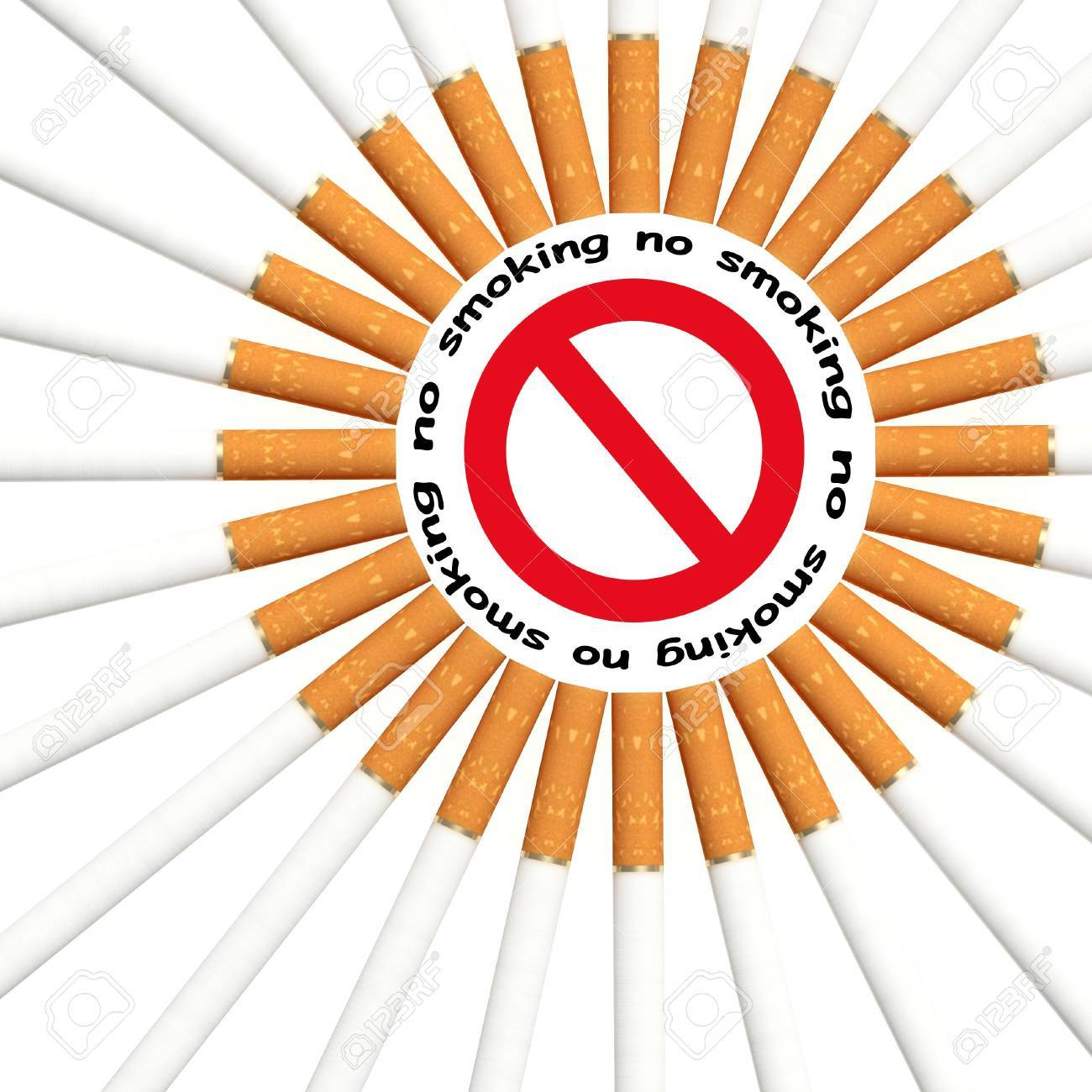 fine 3d illustration of no smoking signal background Stock Photo - 5062593