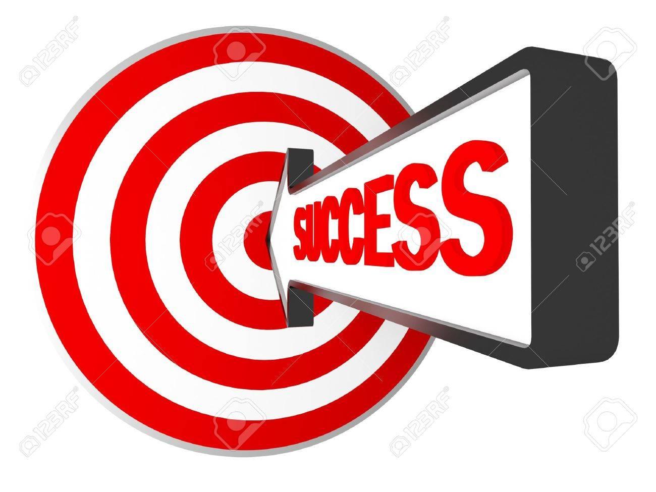 3d target and success arrow metaphoric business image Stock Photo - 6893214