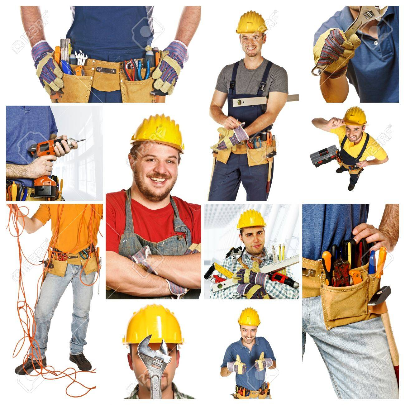 people at work, collage picture of different manual workers Stock Photo - 6880626