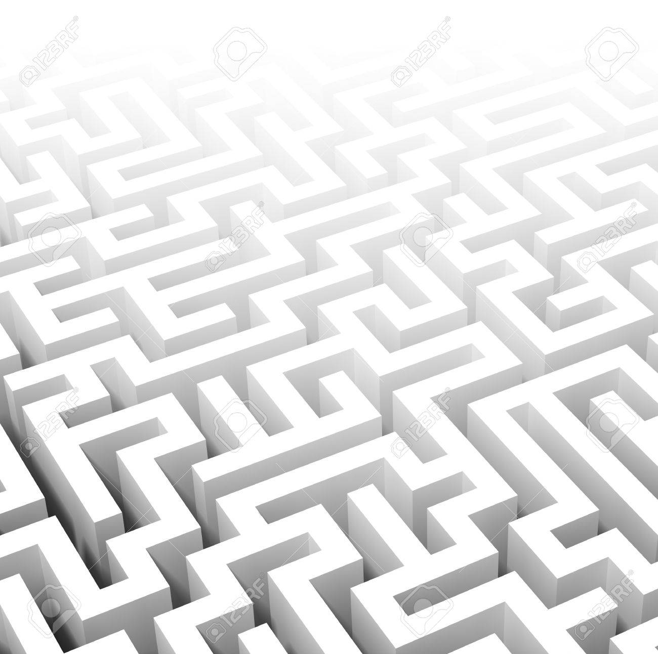 fine image of classic 3d labyrinth Stock Photo - 7238056