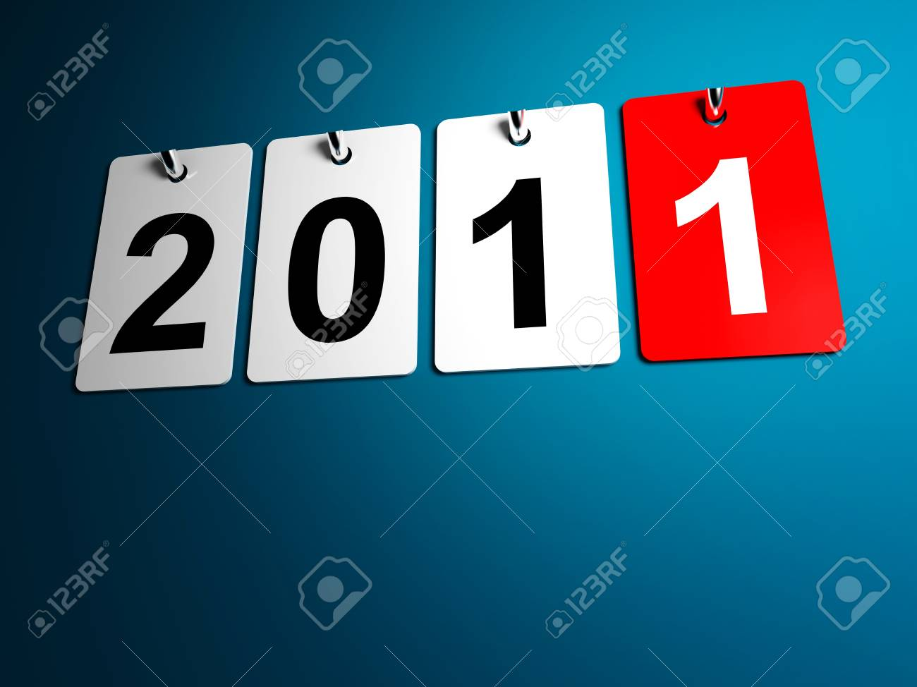 3d image of 2011 calendar for new year day Stock Photo - 7814311