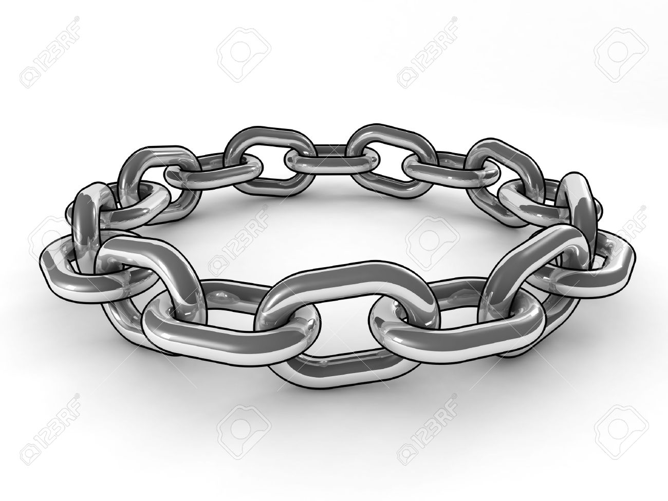 Fine 3d Image Of Metal Ring Chain Cartoon Style Stock Photo, Picture And  Royalty Free Image. Image 9852810.