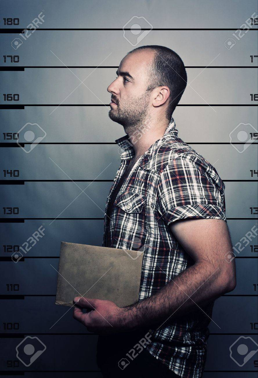 classic police photo of arrested criminal Stock Photo - 9853130