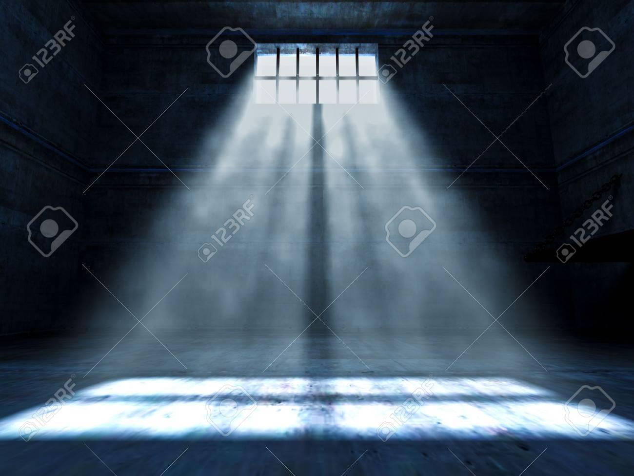 fine 3d image of dark grunge prison Stock Photo - 9991104