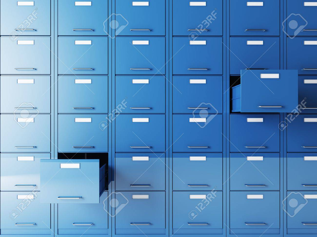fine 3d image of file cabinet folder Stock Photo - 10587012