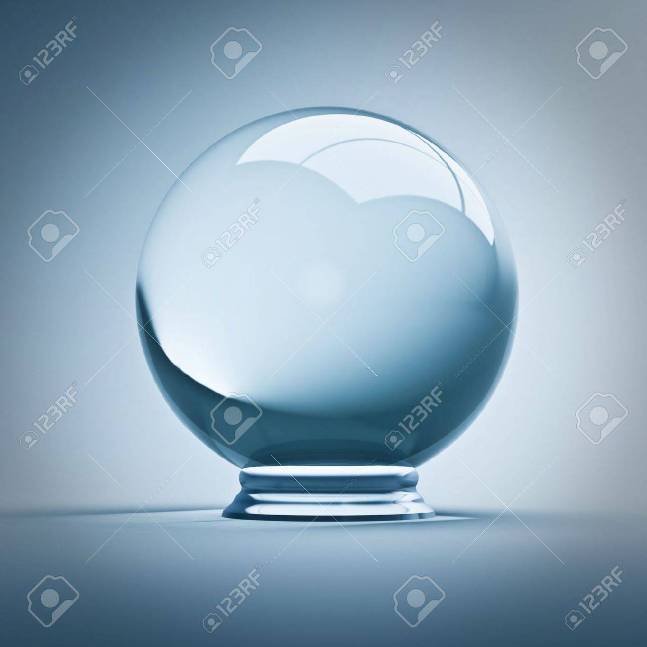 fine render 3d of empty crystal ball Stock Photo - 10990625