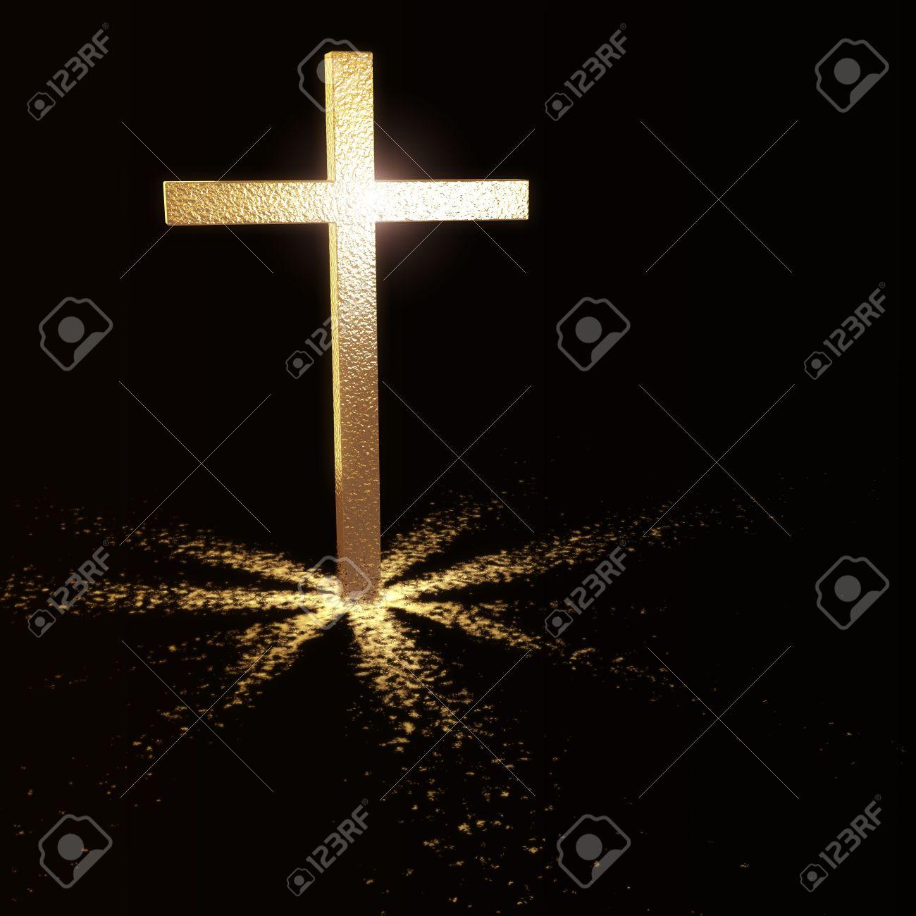 Белый крест на черном фоне тату