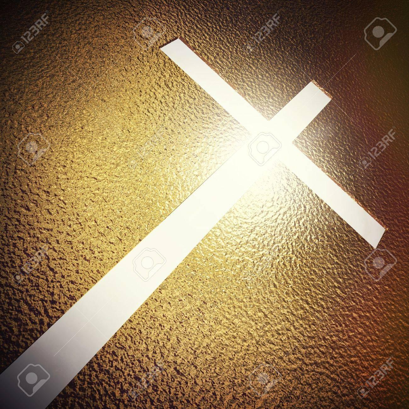 3d image og golden cross Stock Photo - 12381334