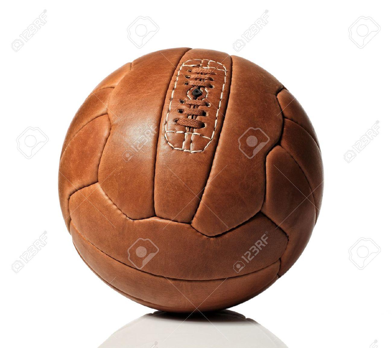 vintage soccer ball on white background Stock Photo - 12703855