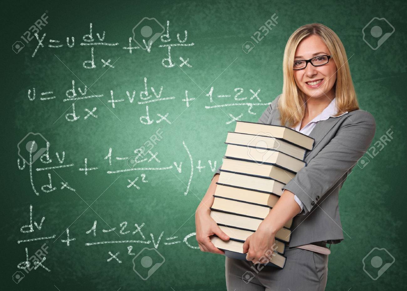 portrait of young teacher with book Stock Photo - 14741723