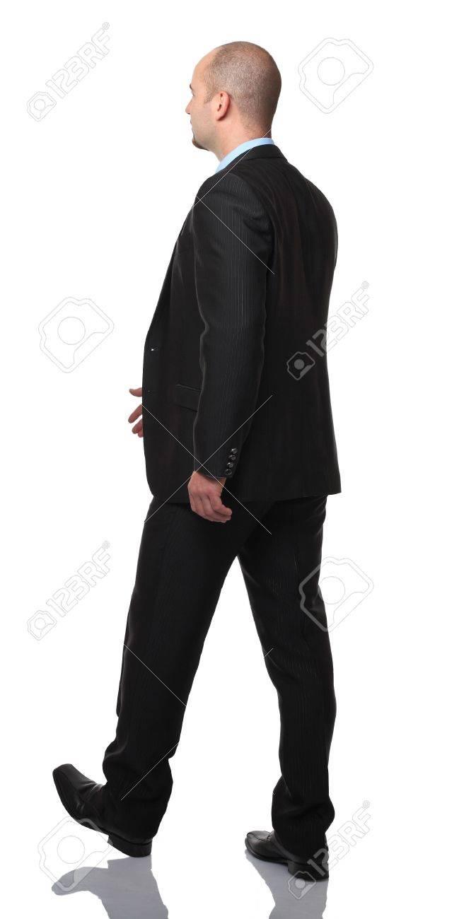 businessman walking isolated on white background Stock Photo - 15679950
