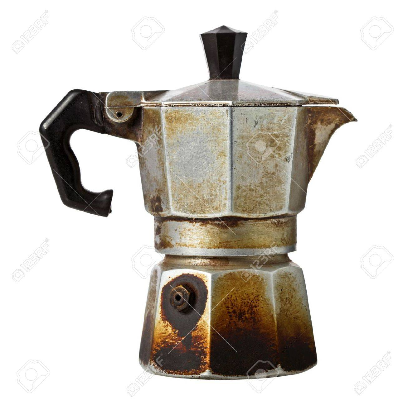 old coffee maker isolated on white Stock Photo - 17236188