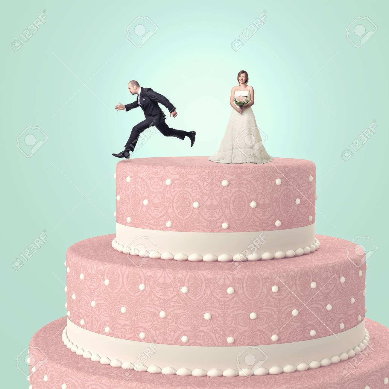 Funny wedding cake with goom and bride stock photo picture and funny wedding cake with goom and bride stock photo 20680642 junglespirit Images