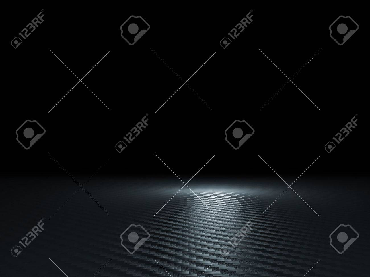 3d image of classic carbon fiber texture - 46058434