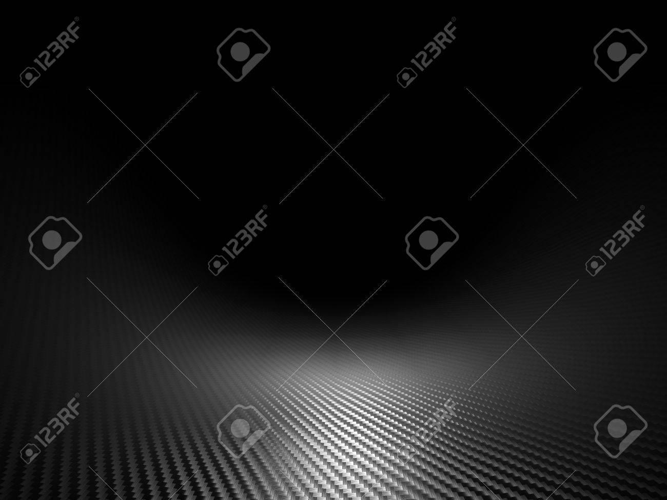 3d image of classic carbon fiber texture - 48342597