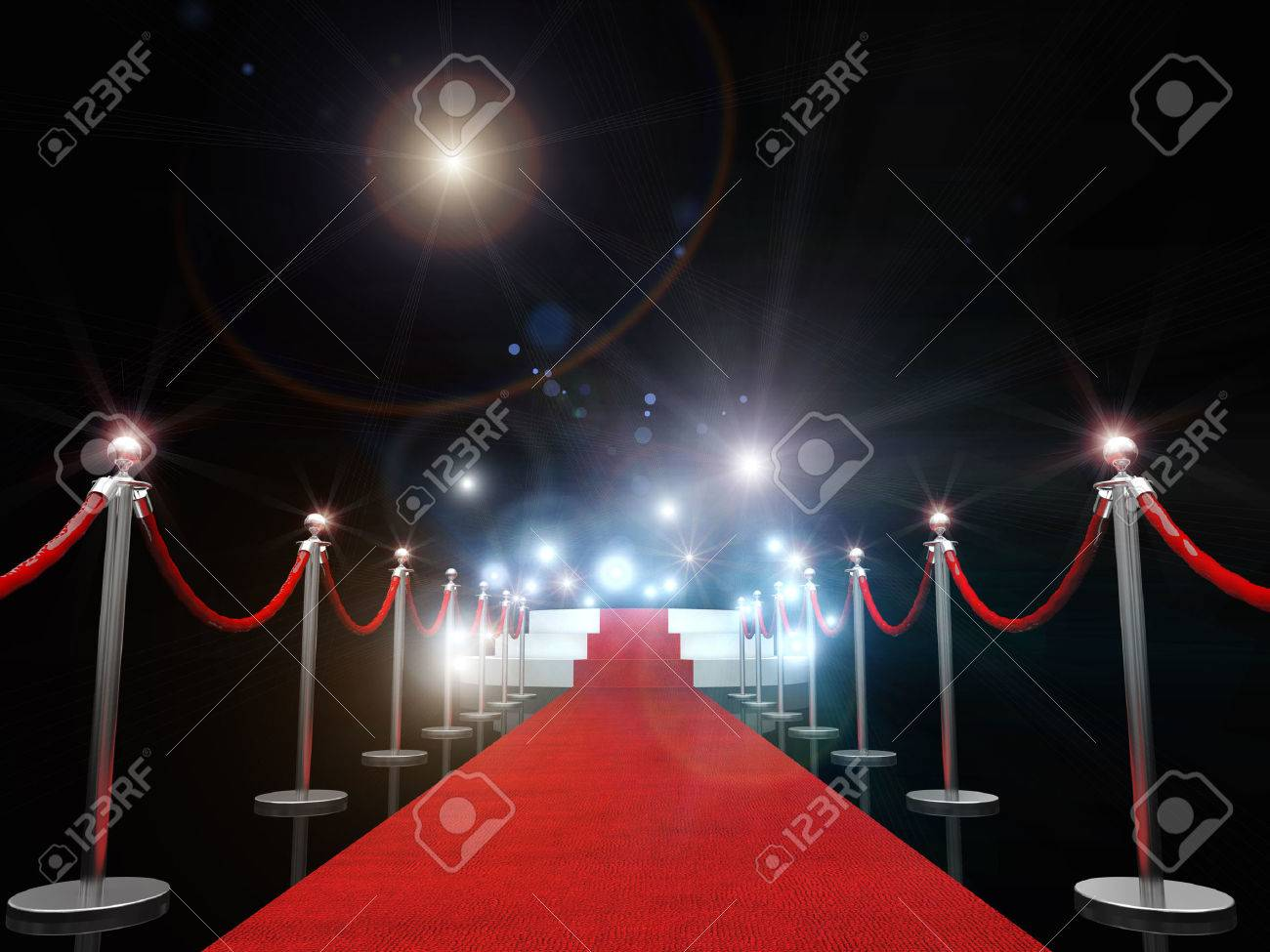3d image of classic red carpet - 50712510