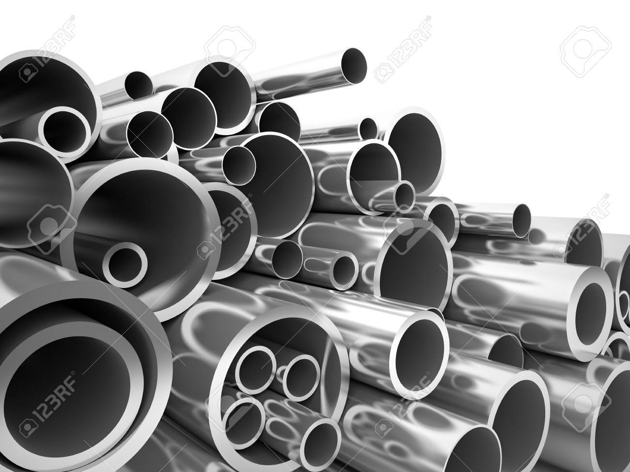 3d metal pipe on white - 51657221