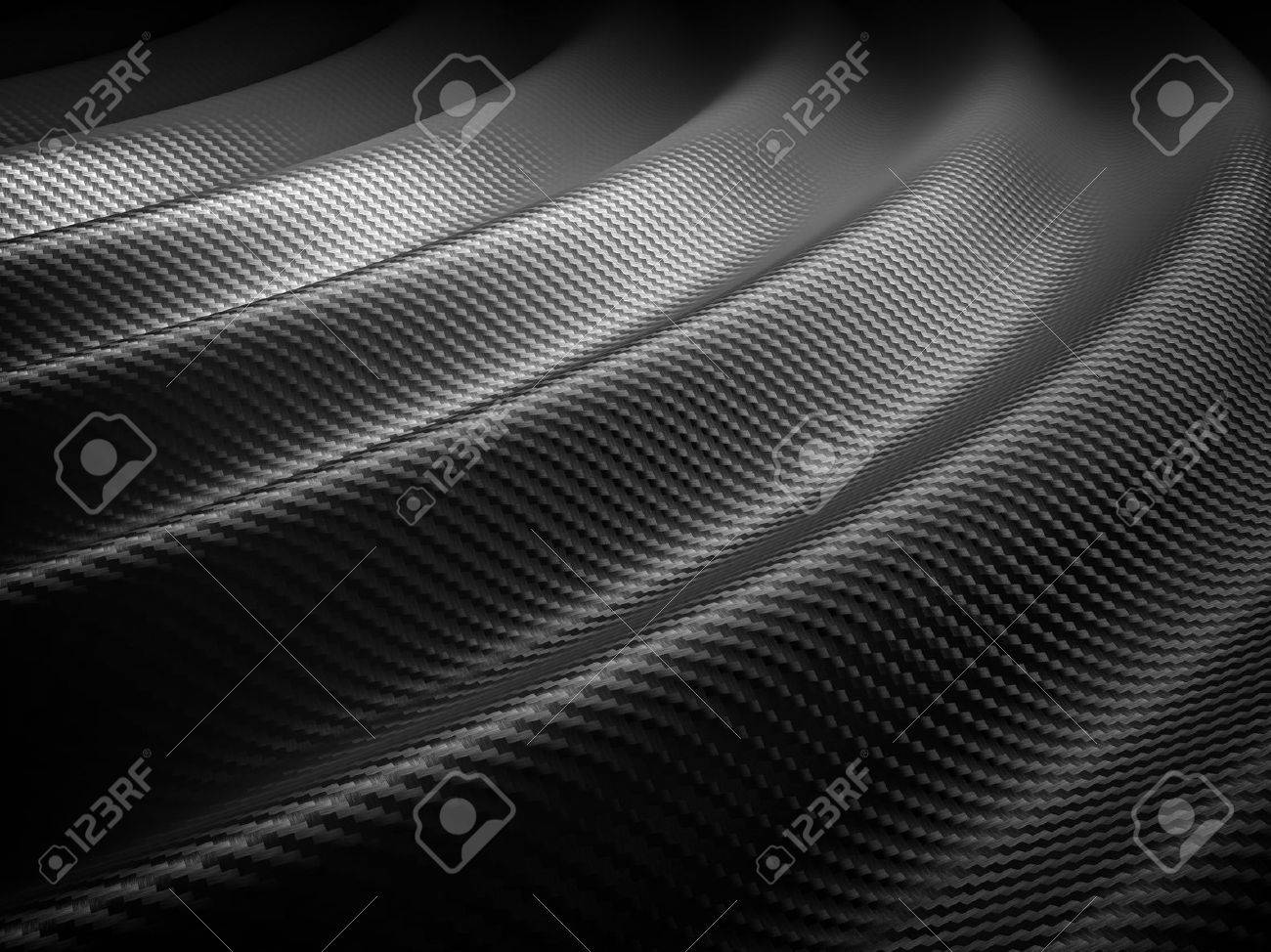 3d image of classic carbon fiber texture - 52851395