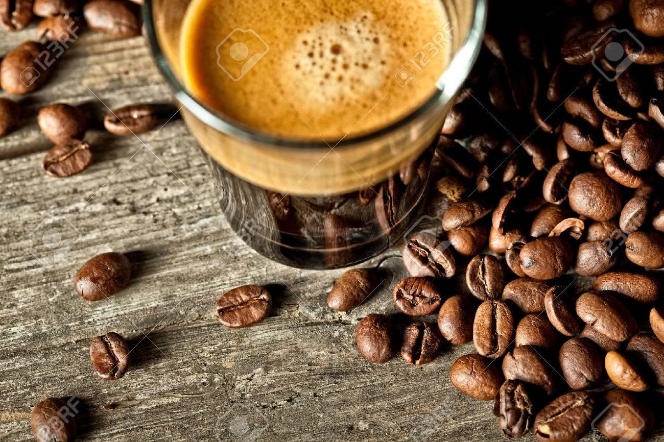real espresso and coffee grain - 59027950