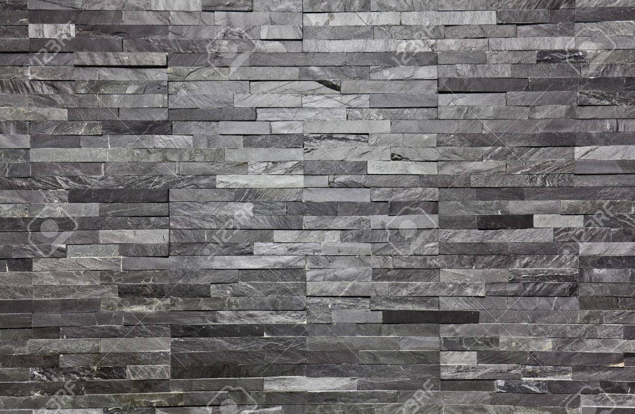High Quality Real Slate Brick Interior Wall Background Stock Photo   76483961