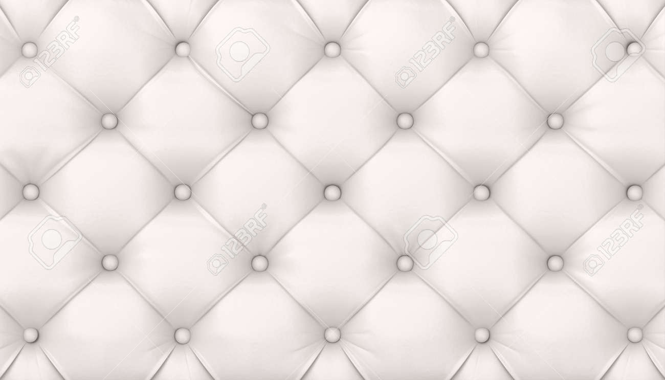tufted white leather background. 3d render - 172307512