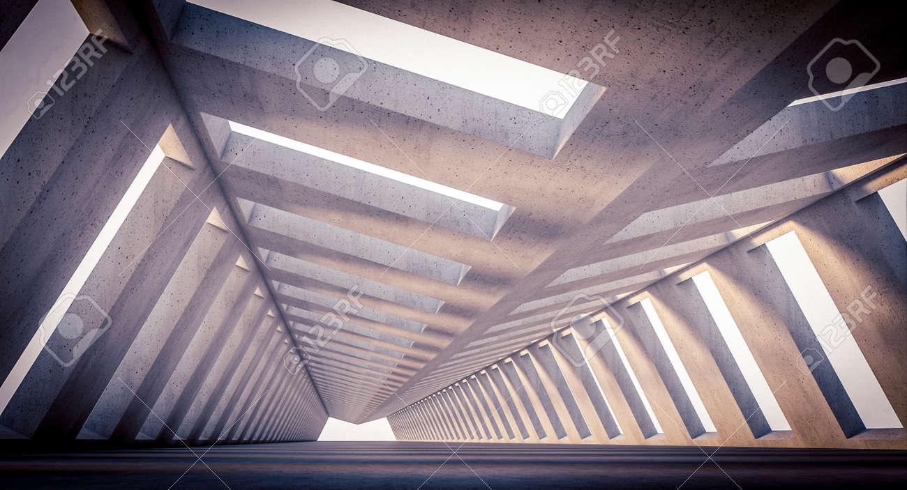 futuristic concrete structure, modern architecture. 3d render - 173236144