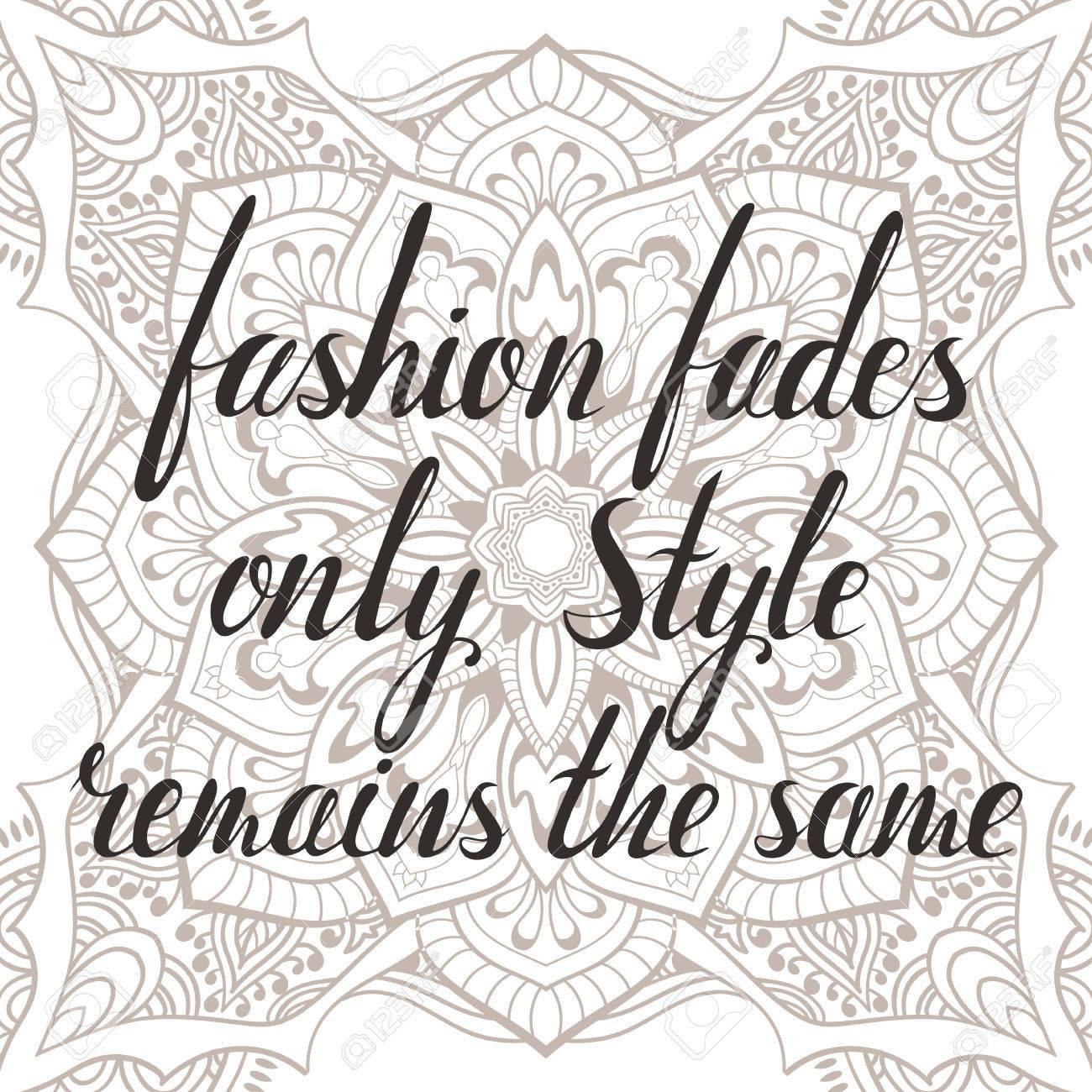 La Mode Se Démode Style Reste La Même Inscription Coco Chanel Citation Dessiné à La Main Lettrage à Propos De La Femme Et De La Mode Vector Art