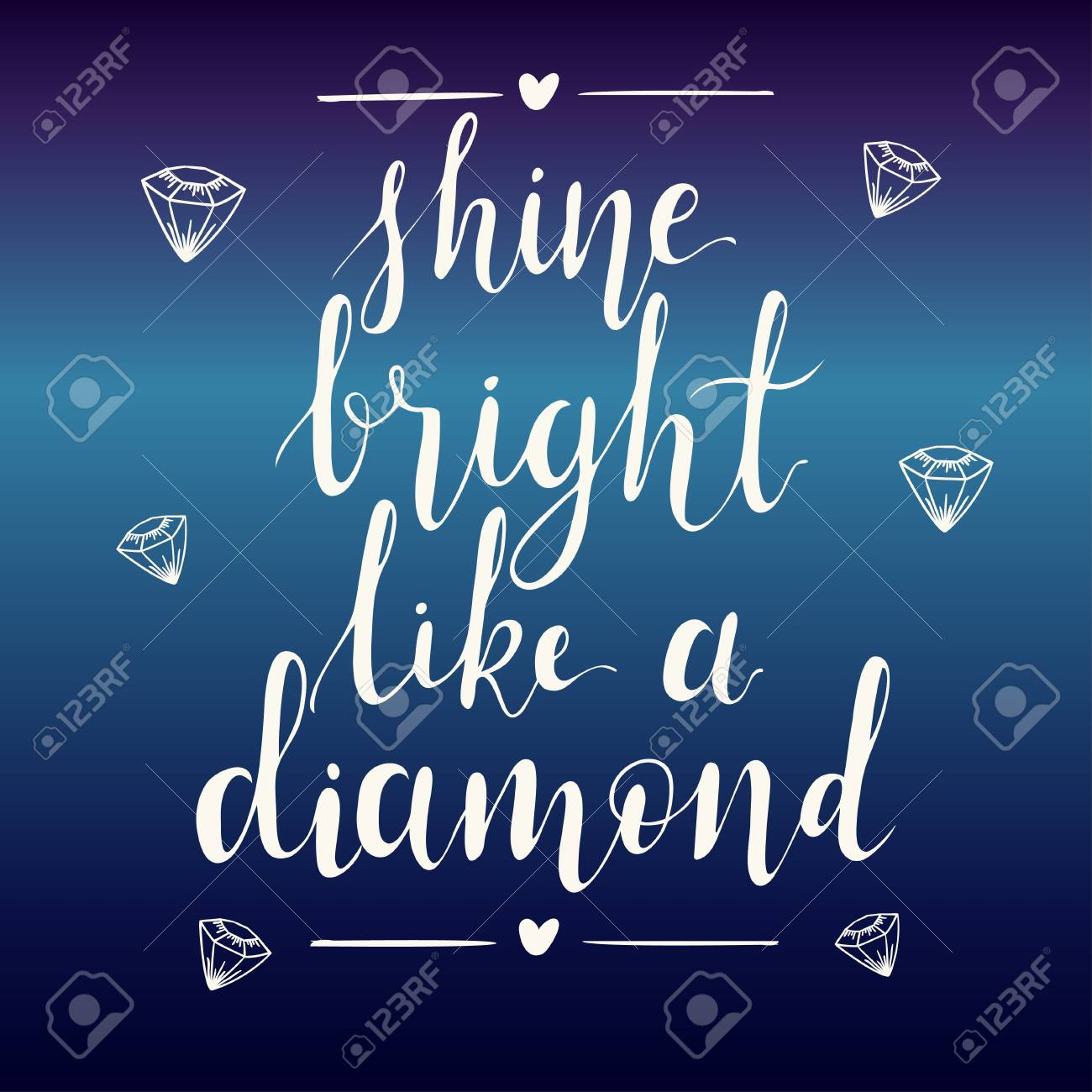 vector a abstract t shine photo background diamond lettering bright quote hand gradient on inspiration stock like