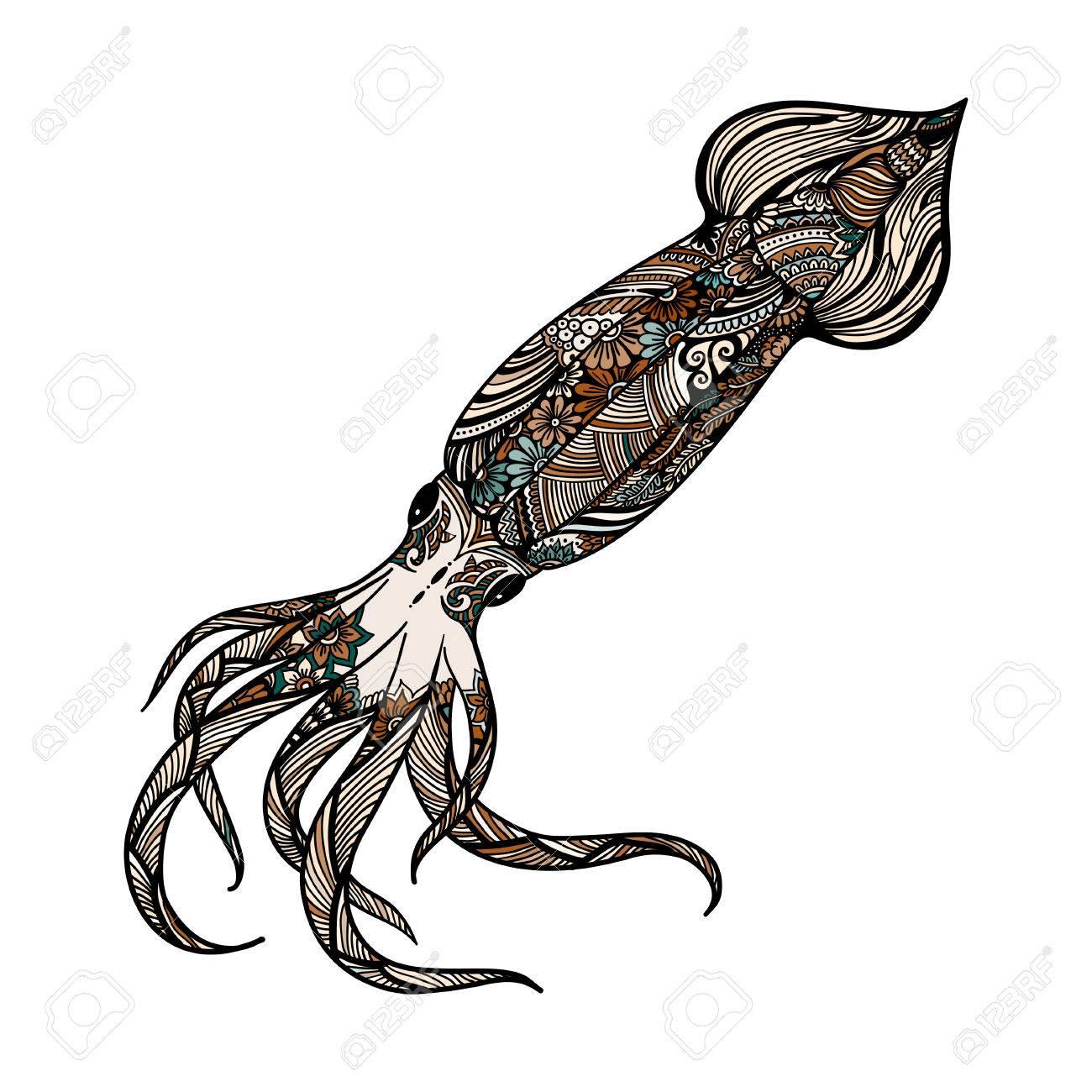 Grandes Calamares Kraken El Habitante Del Océano Glubokokvodny Monstruo