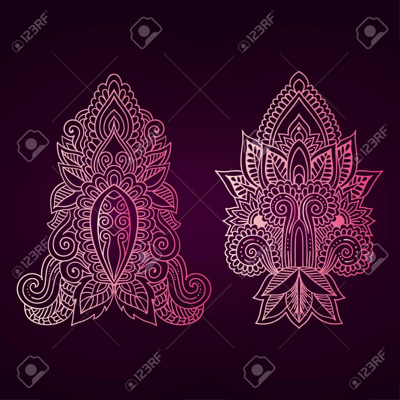 Vector ornamental lotus flower ethnic art patterned indian vector ornamental lotus flower ethnic art patterned indian paisley hand drawn illustration izmirmasajfo