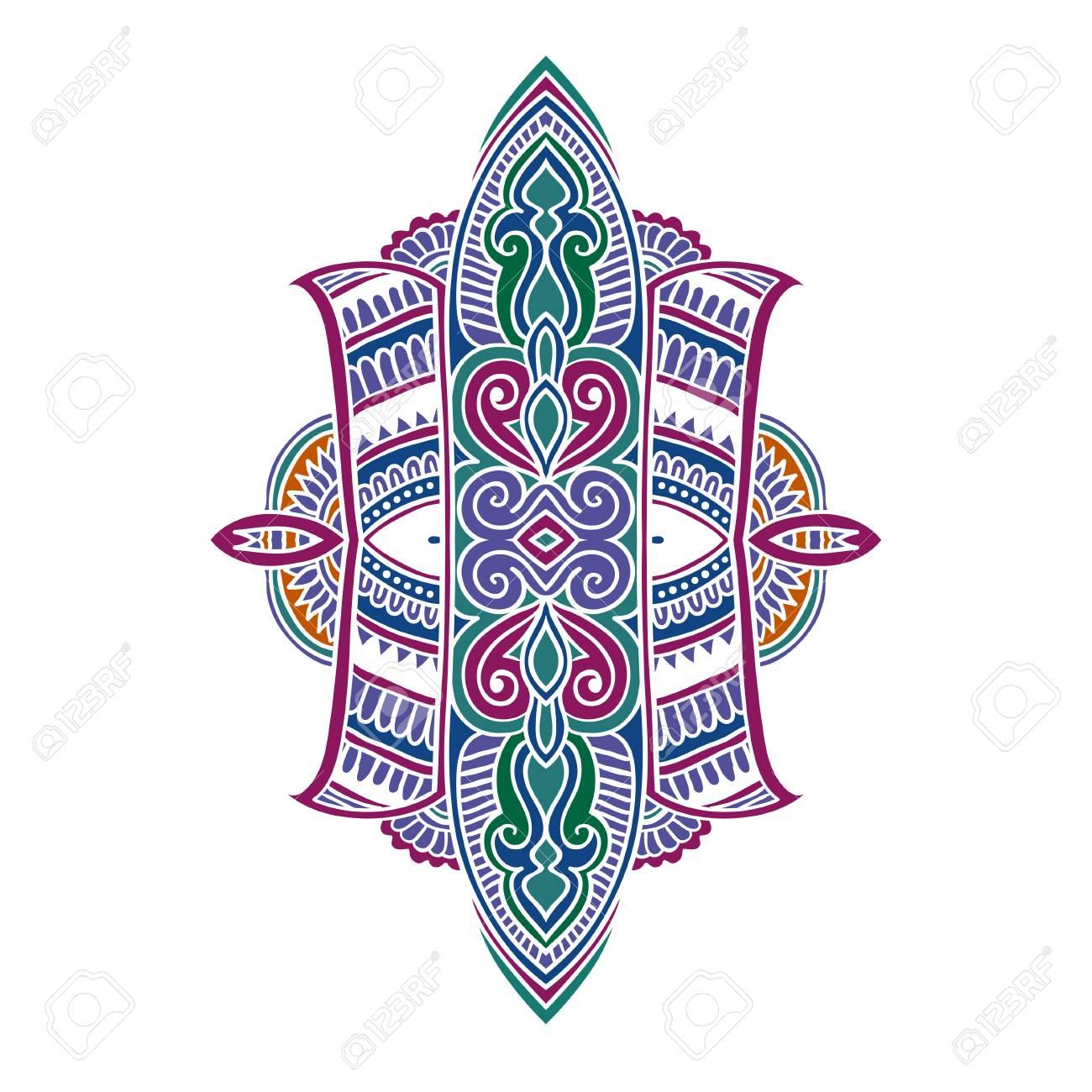 Vector ornamental lotus flower ethnic art patterned indian vector vector ornamental lotus flower ethnic art patterned indian paisley hand drawn illustration original design in doodle and zentangle style mightylinksfo