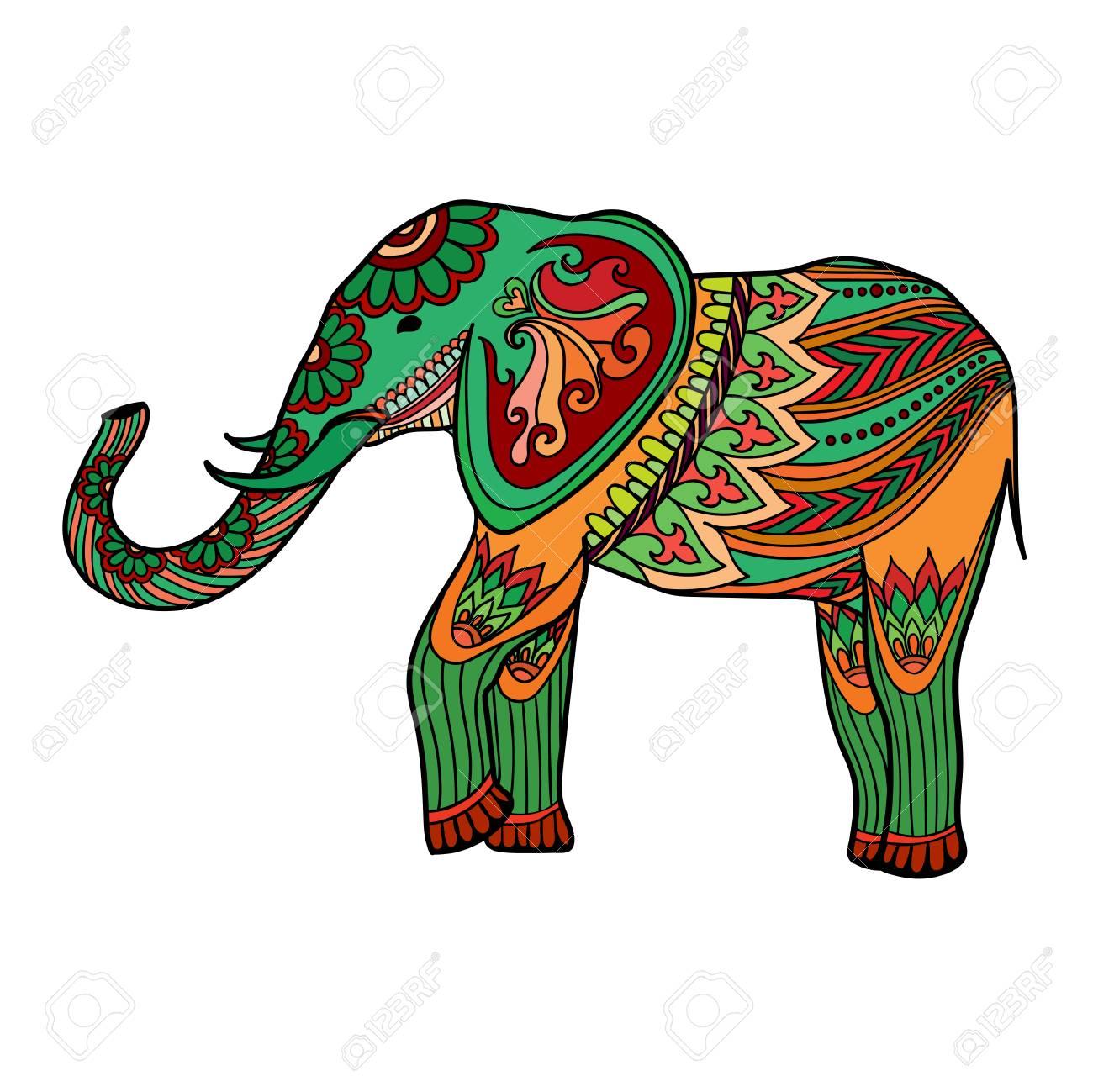 Asombroso Páginas De Elefante En Color Adorno - Enmarcado Para ...