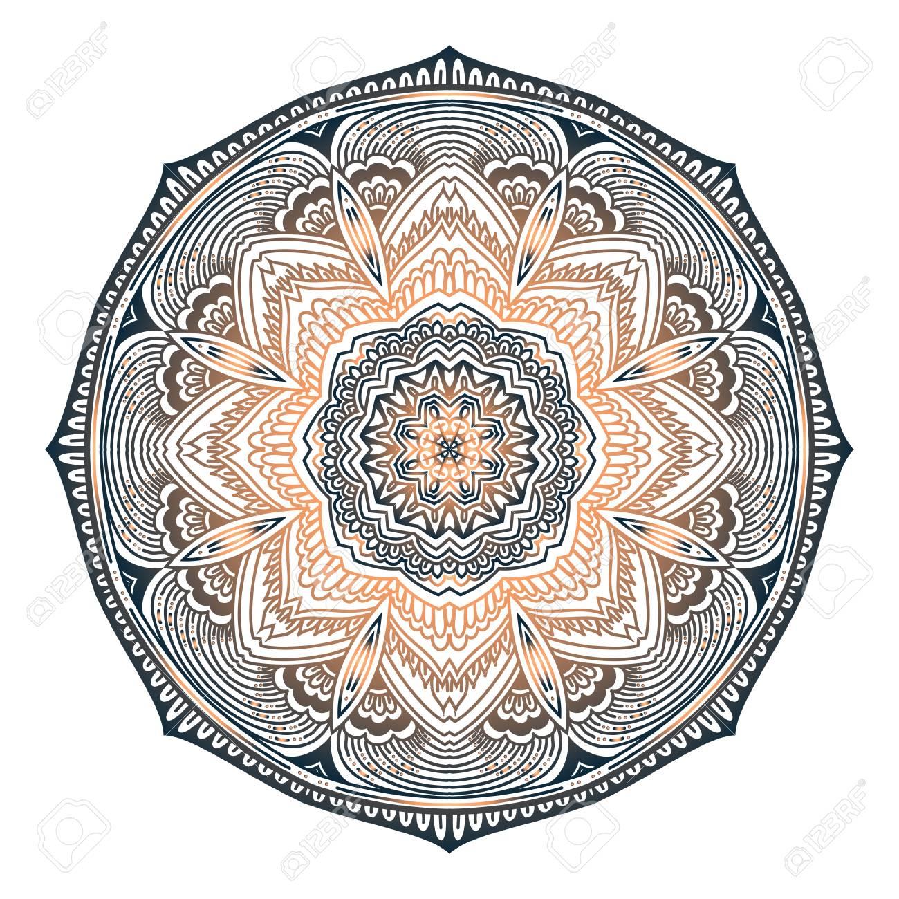 Mandala Oriente Oriental Fleur Fleur Mandala Wonderful Couleurs