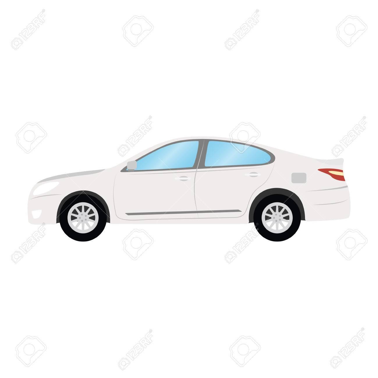 Car Vector Plantilla Sobre Fondo Blanco. Negocio Sedán Aislado ...