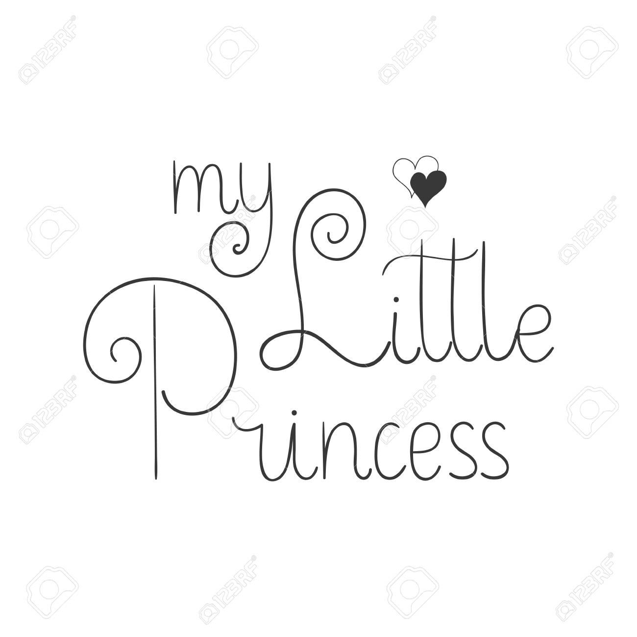 Petite Princesse Citations De Lettrage à La Main Pour Imprimer Sur
