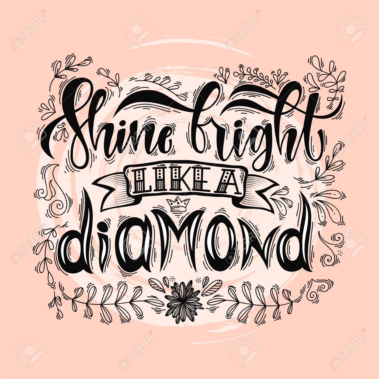 whitepink time pink royalty white bright quote to striped vector with shine diamond illustration a golden background