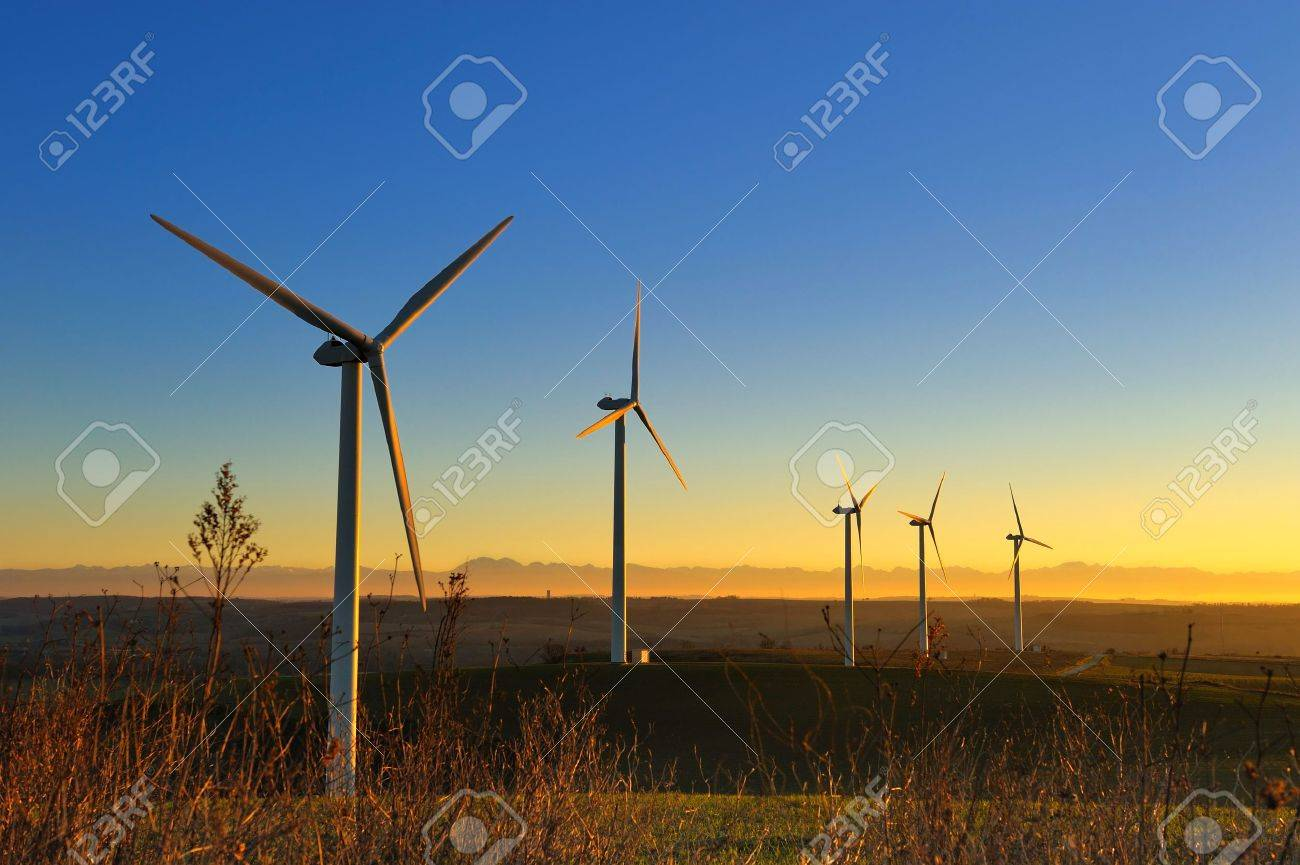 a wind turbines in the South of France - 11123851