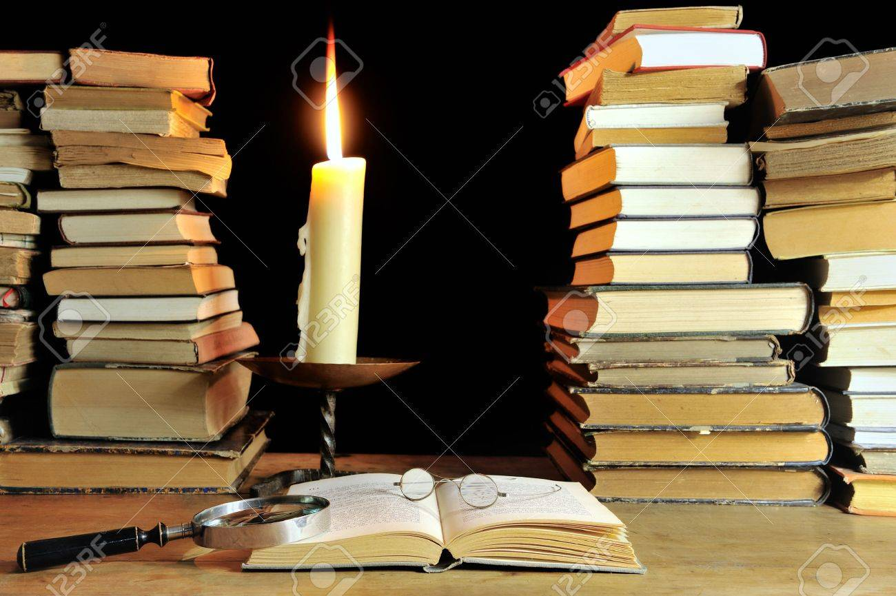 reading old books of the past Stock Photo - 12821808