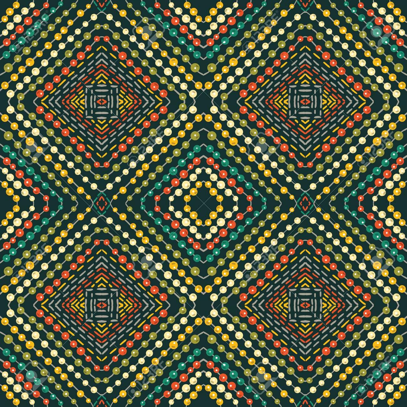 Patrón Sin Costuras - Bordado Decorativo Con Dibujo Geométrico Y ...