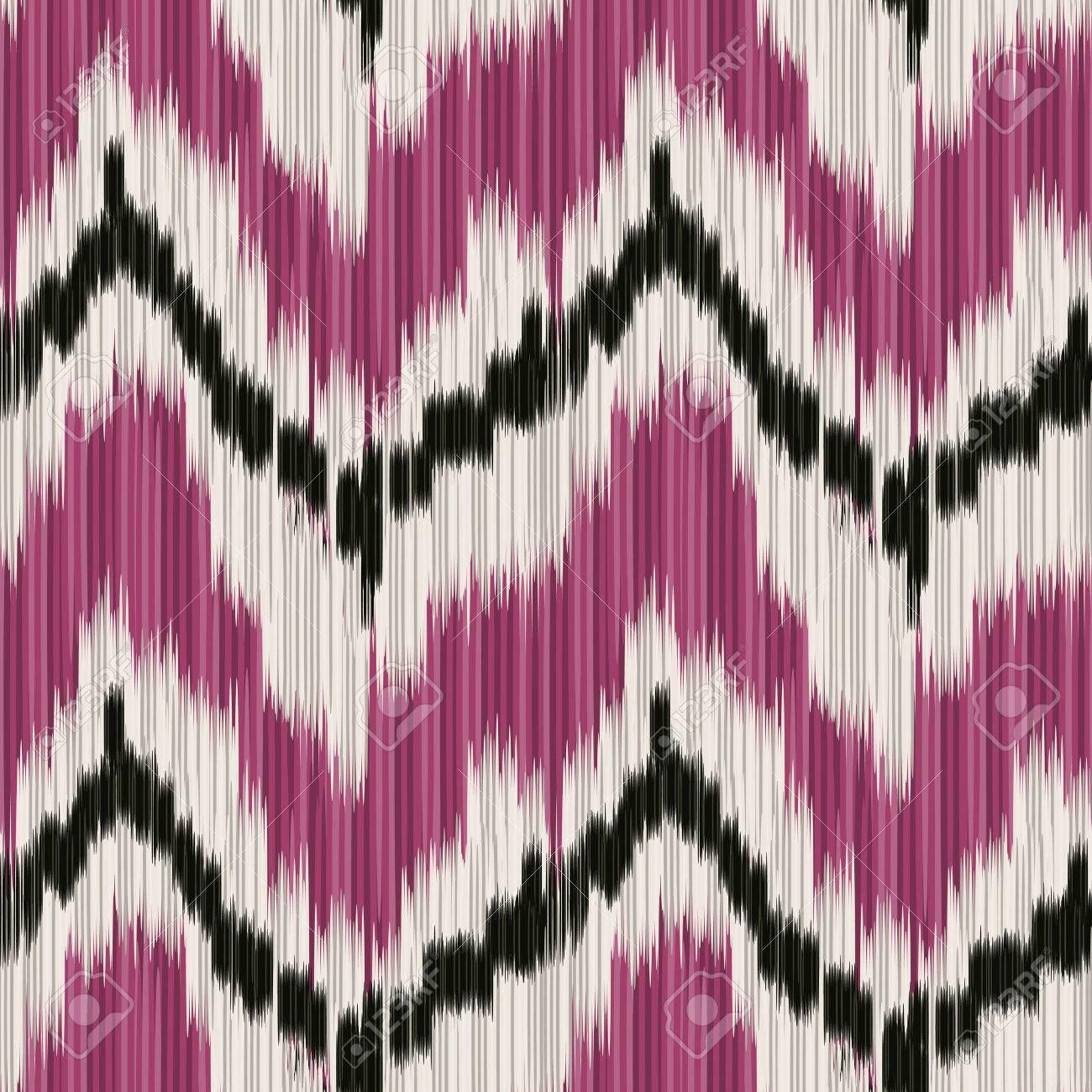 Nahtlose Ikat Muster. Abstrakt Hintergrund Für Textil Design, Tapete,  Oberflächenstrukturen,