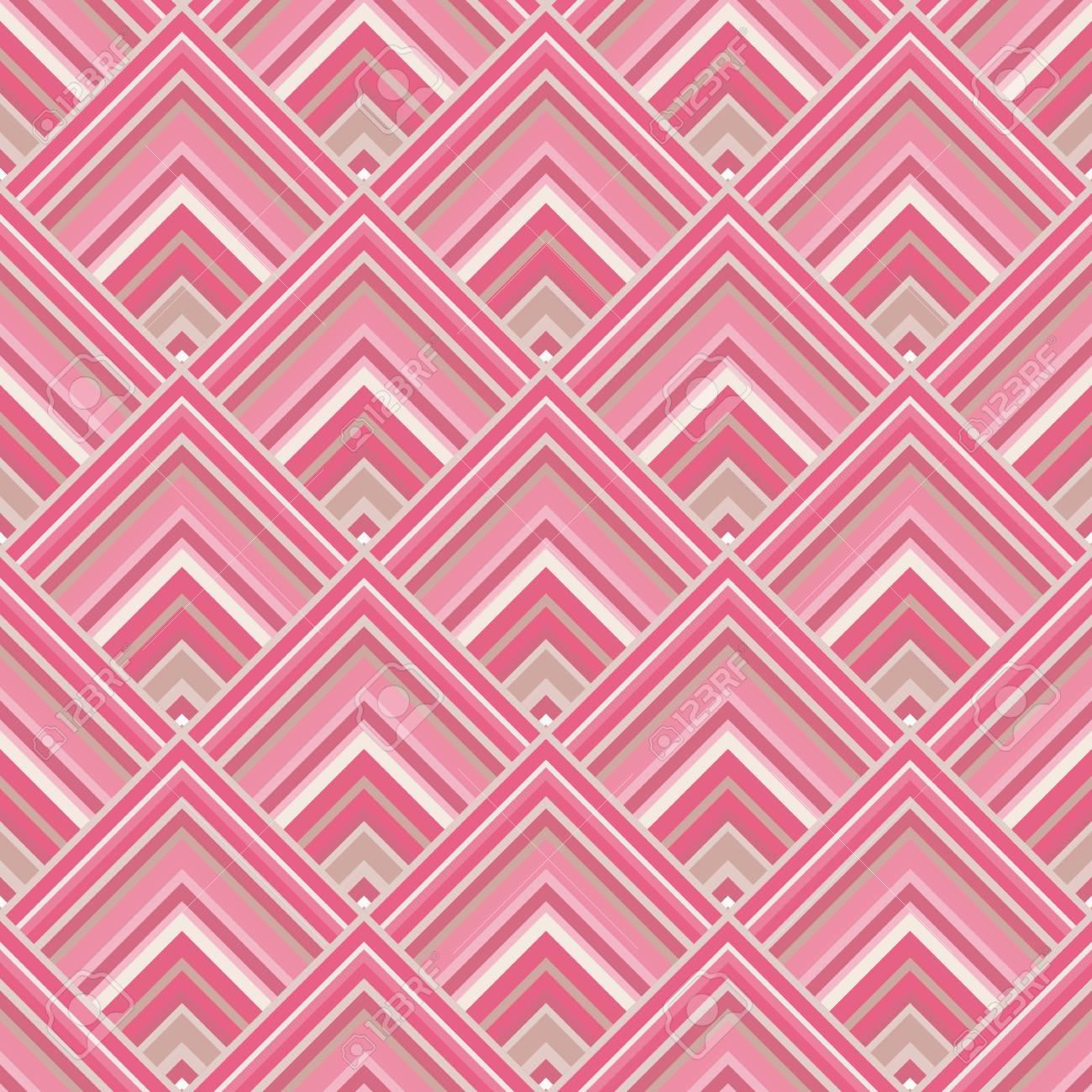 Seamless Pattern Sfondo Geometrico Con Rombi In Toni Rosa E Grigio Illustrazione Di Vettore