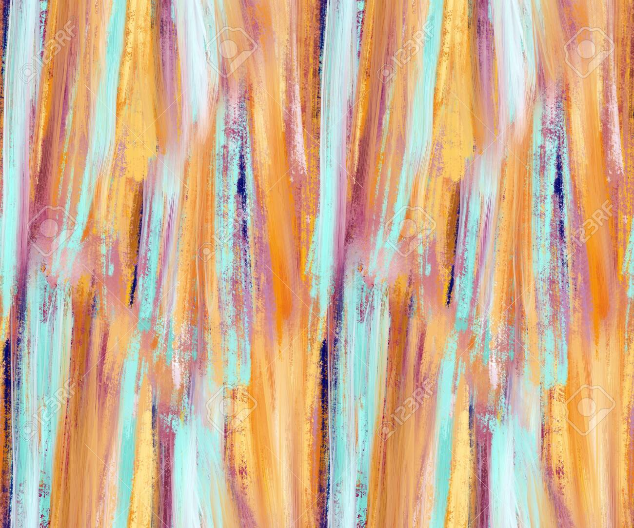 Abstract seamless pattern with acrylic painting. Hand-drawn illustration. - 151000304