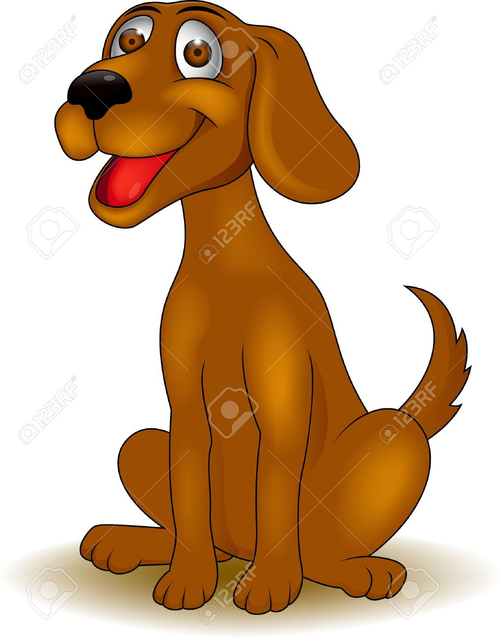Happy Dog Cartoon Royalty Free Cliparts Vectors And Stock Illustration Image 15924891