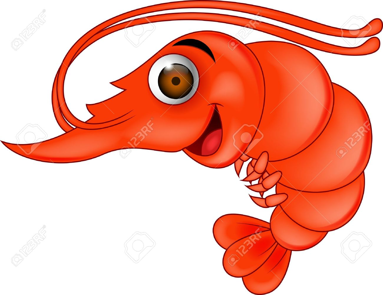 23 104 shrimp stock illustrations cliparts and royalty free shrimp rh 123rf com Cartoon Shrimp Clip Art Lobster Clip Art