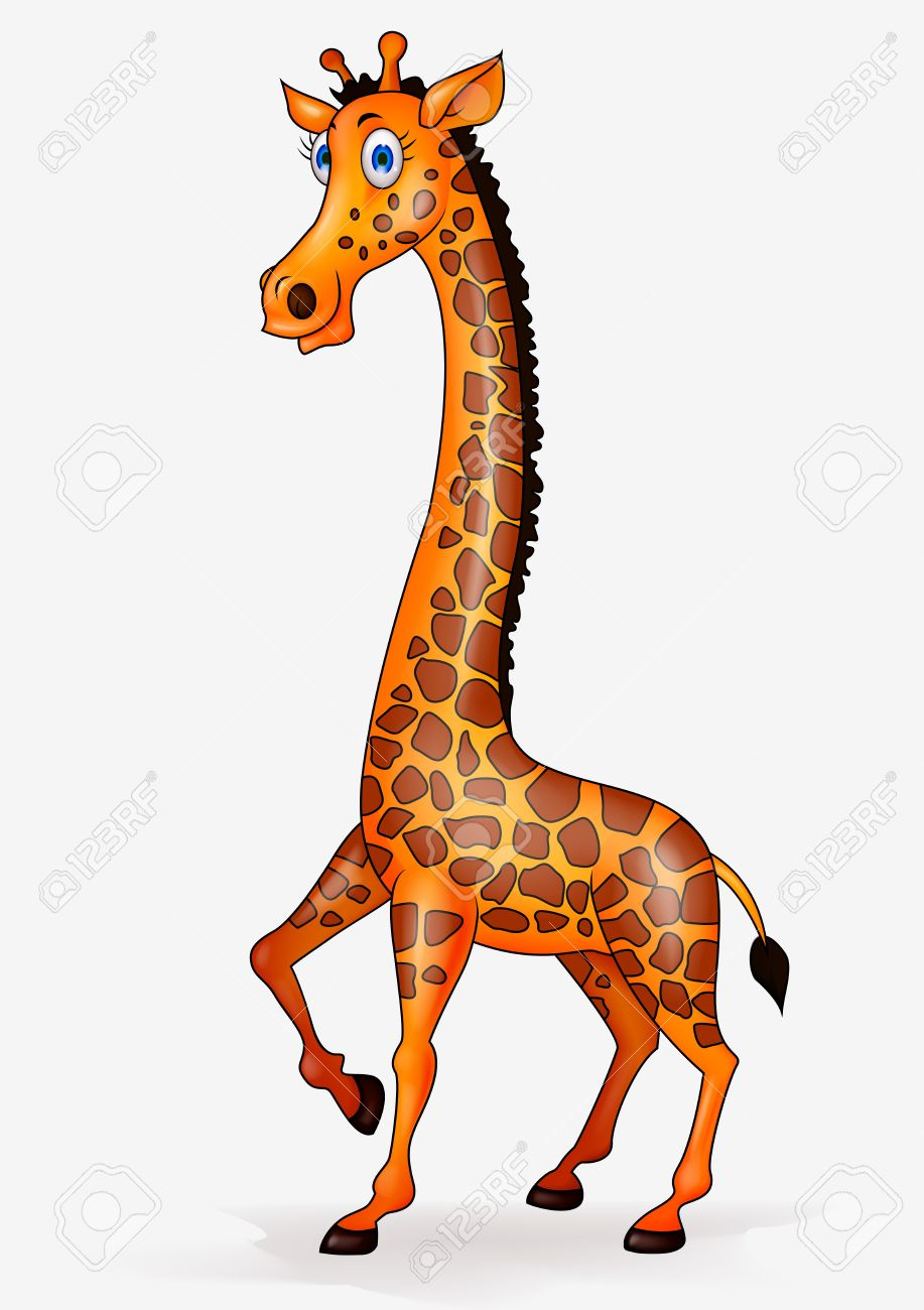 giraffe cartoon royalty free cliparts vectors and stock