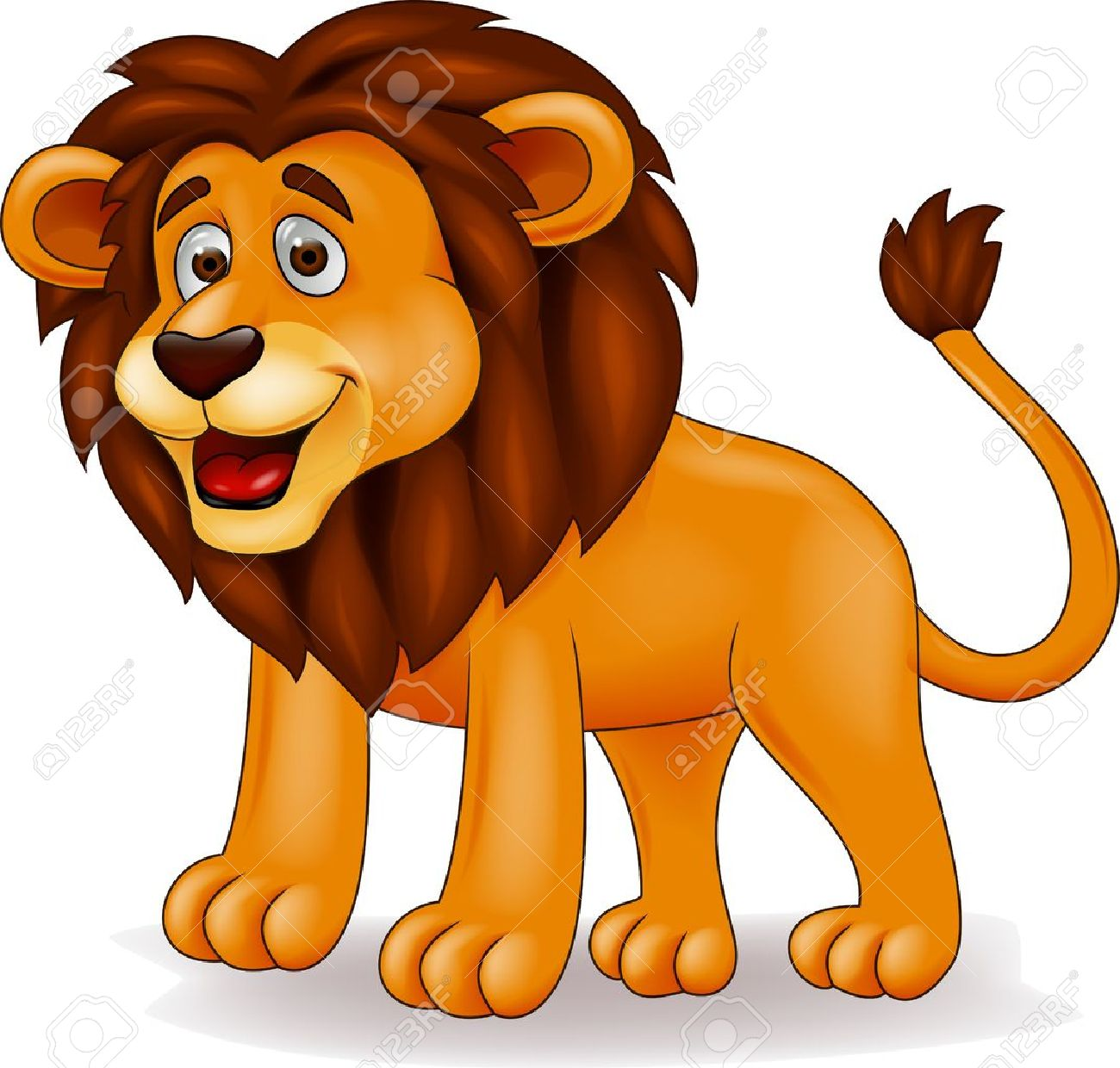 funny lion cartoon royalty free cliparts vectors and stock