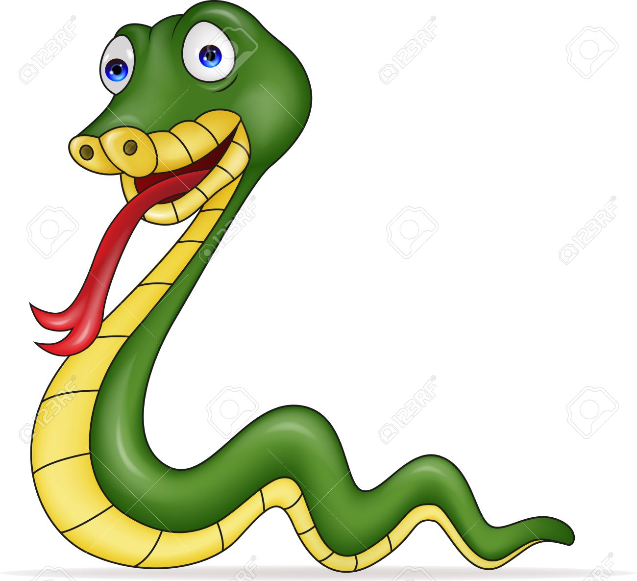 ilustración de dibujos animados serpiente ilustraciones vectoriales