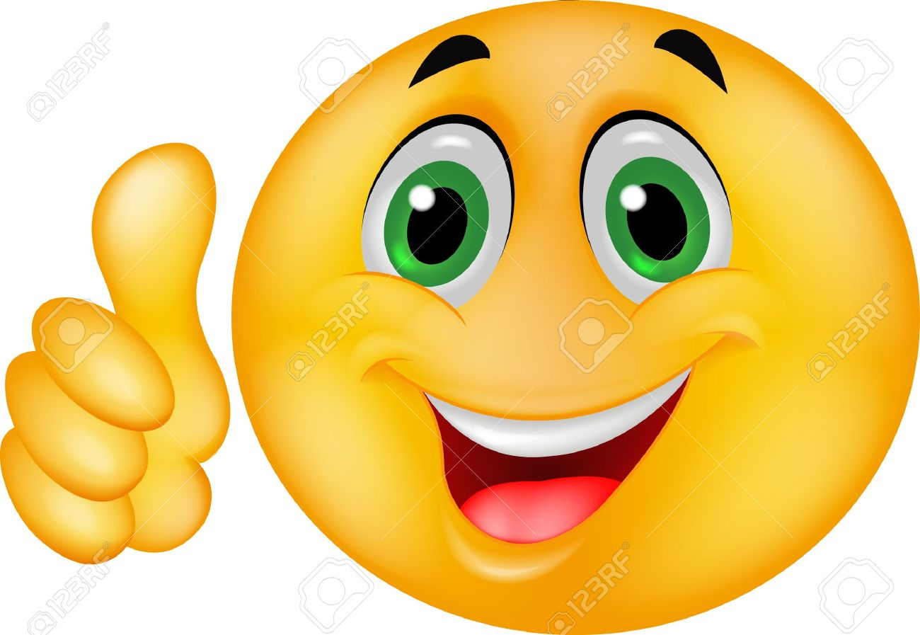 Emoticon smiley with thumb up - 16515884